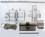 Knaufzylinder in 60 mm (30x30) Schließanlage Gleichschließend 2, 3 oder 4-er Set mit 5 Schlüssel pro Türschloss (4)