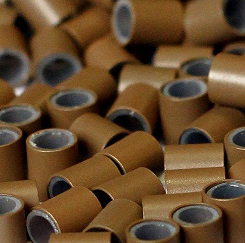 50/100/200/250/500/1000 tubes cuivre doublé en silicone pour extensions de cheveux