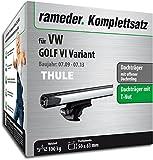 Rameder Komplettsatz, Dachträger SlideBar für VW Golf VI Variant (114977-08442-29)