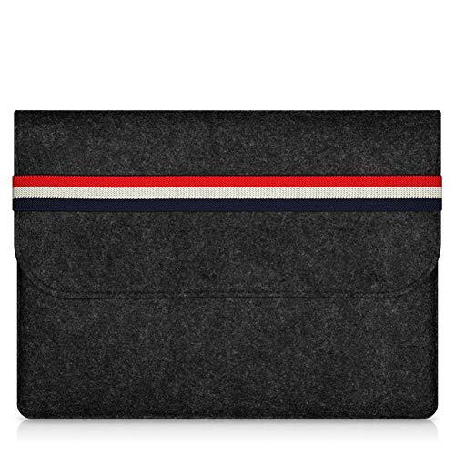 Daliuing Schutzhülle für Tablet-PCs, modisch, gestreift, leicht, schlankes Design, für Reisen, Notebook, Aktentasche, kompatibel mit 27,9-38,1 cm (11-15 Zoll) MacBook Pro/Air Black-11 inch inch -