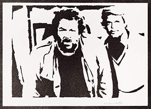 Poster Bud Spencer e Terence Hill Handmade Graffiti Street Art - Artwork