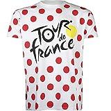Tour de France - Maglietta da Uomo, Collezione Ufficiale, Uomo, Bianco, S
