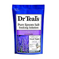 Dr Teal's Soothe & Sleep Pure Epsom Salt Soaking Solution with Lavender, 0.45 kg