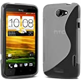 (Klar) HTC One X Schutz S-Line Wave Gel Case Cover Skin & LCD Screen Protector Guard von Spyrox