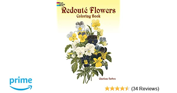 Redoute Roses Colouring Book Dover Nature Coloring Amazoncouk Charlene Tarbox 0800759400553 Books