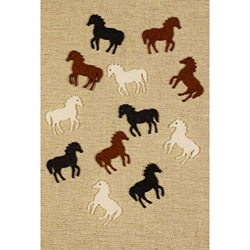 Bastelfilz Figuren Set - Pferd, klein. Filz, Textilfilz, Streudeko -