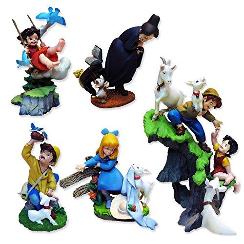 HEIDI Series SET 6 FIGURES 3D Dioramas CLARA PETER etc. Trading Figures KAIYODO Giappone