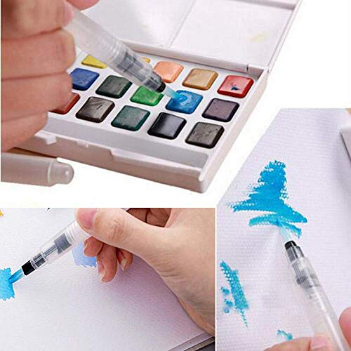 Newbuy Water Brush Pen for Watercolor Calligraphy Drawing Tool Marker 3 Sizes (Small, Medium, Large)