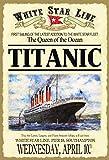 Schatzmix Titanic Queen of The Ocean Schiff Boot White Star Line blechschild