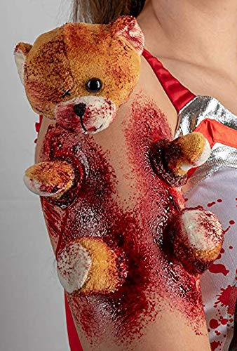 KOH,Horror Teddy-Zombie Make up,Zombie Schminke,Halloween Schminke,Halloween Make up