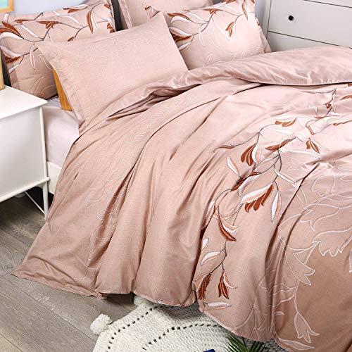 419cd476cd Langde Bettwäsche-Set Ethno Blumen Musterdesign mit Reißverschluss,  Bettbezug 135 x 200 cm + 1 x Kissenbezügen 50 x 70 cm, Mikrofaser Super  Weiche 3 TLG.