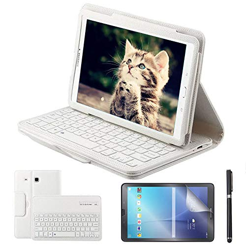 stylus tablet REAL-EAGLE Custodia Galaxy Tab E 9.6 Bluetooth Tastiera con Screen Protector & Stylus