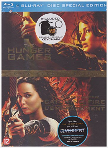 Hunger Games + Hunger Games 2 [ Coffret Edition Speciale 4 Blu Ray ] + 1 Porte Clé