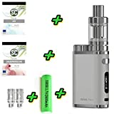 E-Zigarette SC produced by Eleaf Pico iStick 75W | Einsteiger Starterset 2600mAh | TC (Temperaturregelung) mit Integriertem Akku | mit SC Liquids - 00mg Rauchen ohne Nikotin