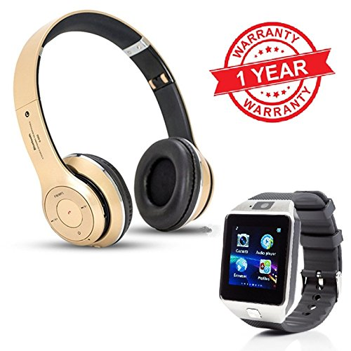 MacBerry SAMSUNG Galaxy Note 3 Neo Compatible Bluetooth Wireless Headphones & Smartwatch (RANDOM COLORS)  available at amazon for Rs.2199
