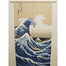 "KATSUSHIKA HOKUSAI ""treinta y seis vistas del monte Fuji"" Noren japonés puerta cortina"