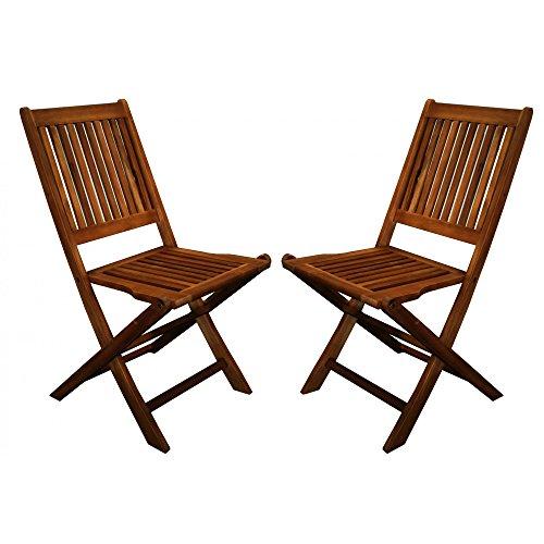 Bentley Sitzgarnitur für den Garten, aus Holz, rechteckiger Tisch und 4 Stühle, 5-teilig