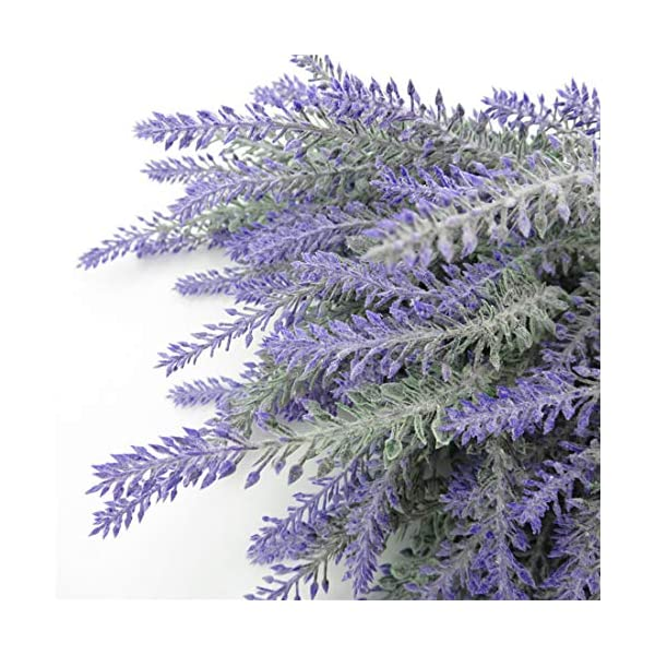PANTINUE 9pcs Artificial Lavanda Ramo en Flores púrpuras DIY Piso jardín Oficina Novia casa Boda decoración (Púrpura, 9…
