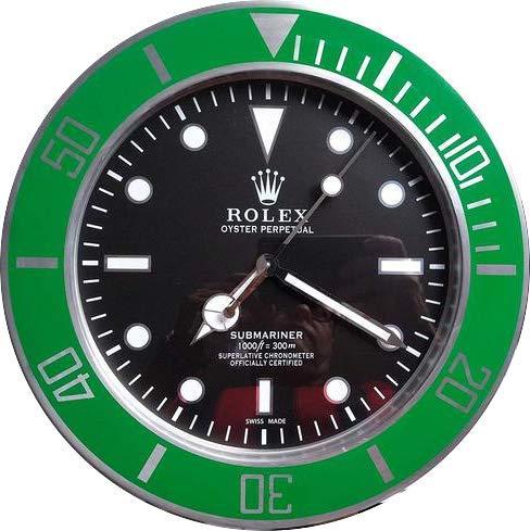 Rolex da muro submariner ghiera verde replica cm 35