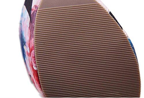 NobS Ladioes Chaussures Femme Chaussures Eté Chaussures Sandales Multicolore Mocassins Chaussures Orange