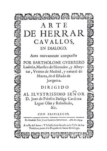 Arte de herrar caballos: 2 (Libros Singulares) por Bartholomé Guerrero Ludeña