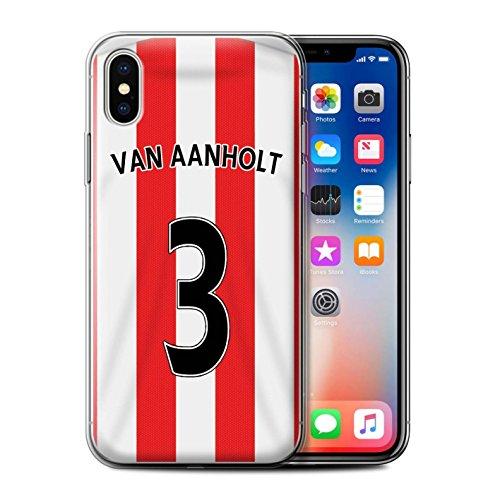 Offiziell Sunderland AFC Hülle / Gel TPU Case für Apple iPhone X/10 / Kone Muster / SAFC Trikot Home 15/16 Kollektion Van Aanholt