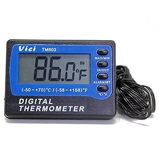 TM803Digital Thermometer Kühlschrank Gefrierschrank Thermometer 2Sensoren ° C ° F ± ° C 3M Kabel Min Max
