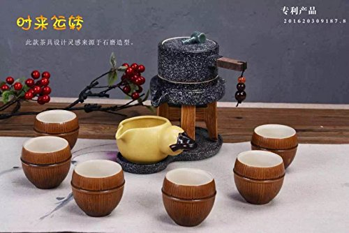 MEICHEN Regali di lusso per cucina pranzo soggiorno studio Gu jdsfhjkdsfhkjds gres porcellanato viola automatico tè insieme a mano , style 9