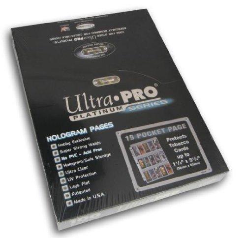 Ultra Pro 15 Pocket Platinum Page für Tabakkarten 100 ct.