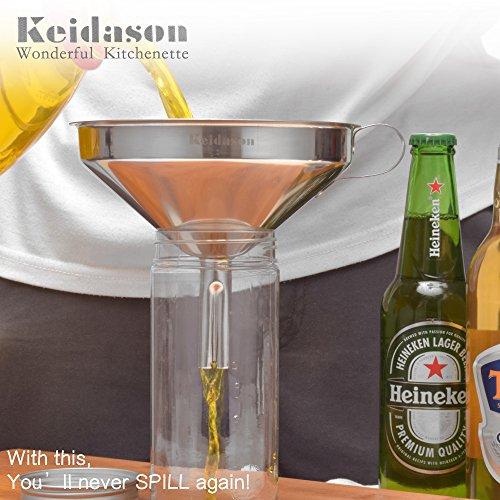 Keidason Edelstahl Küche Trichter mit Abnehmbarer Filter für den Transport von Flüssigkeiten & Fluid - 6