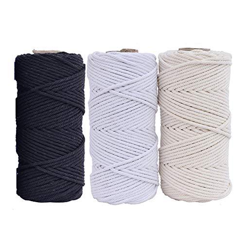 100 m cuerda algodón natural hecha mano colgar macramé