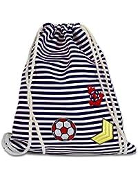 946249a480 Vetrineinrete® Sacca in tela da mare da donna borsa da spiaggia piscina con  righe rosse