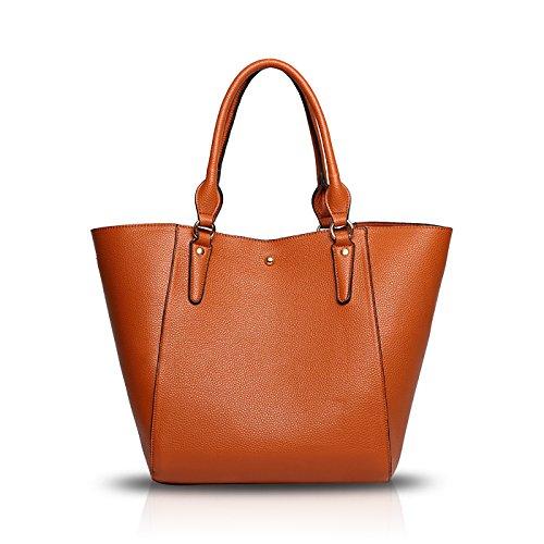 Tisdaini 2017 borsa delle signore di modo nuovo sacchetto di spalla retrò casuale grande pacchetto diagonale di capacità Marrone