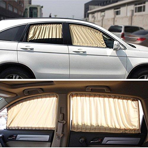 ruick 2Pcs Verstellbare Auto Seite Fenster Sonnenschutz UV-Vorhang Tuch Visier VIP Schutz (Visier Toyota)