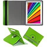 Fastway Rotating Leather Flip Case For I Kall N10 16 GB 10.1 With Wi-Fi+4G Tablet Cover Stand Green