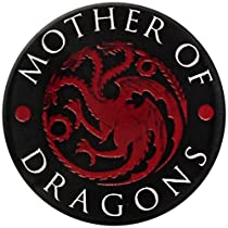 Game Of Thrones Mother Of Dragons Badge rouge Pin noir Bouton Broche officiel