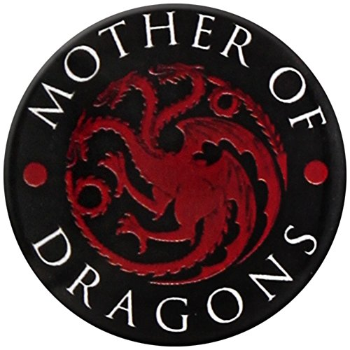 Game Of Thrones Mother Of Dragons Badge rouge Pin noir Bouton Broche officiel, Vetements