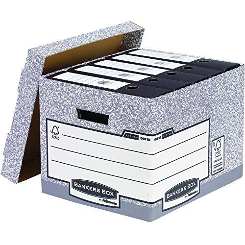 Bankers Box System Standard-Archivbox (Fastfold System) 10 Stück grau - 2