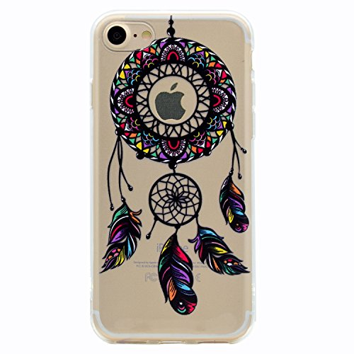 iPhone 8 7 Custodia, SportFun Slim Flexible TPU Custodia Protettiva in silicone per iPhone 8 7 Case gufo Crisantemo cavallo (02) 08