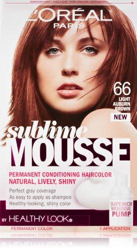 L'Oreal Paris Sublime Mousse by Healthy Look Hair Color, 66 Light Auburn Brown by L'Oreal Paris