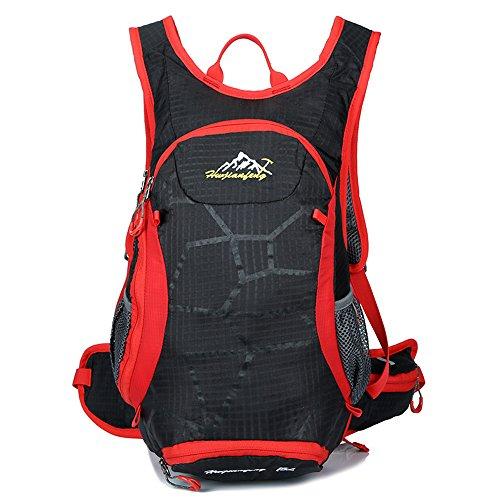 Brush Pen Cycling Bag 15L Traveling Backpack Hiking Backpack Climbing Camping Bag Biking Backpack Outdoor Sports Bag 1520 Black