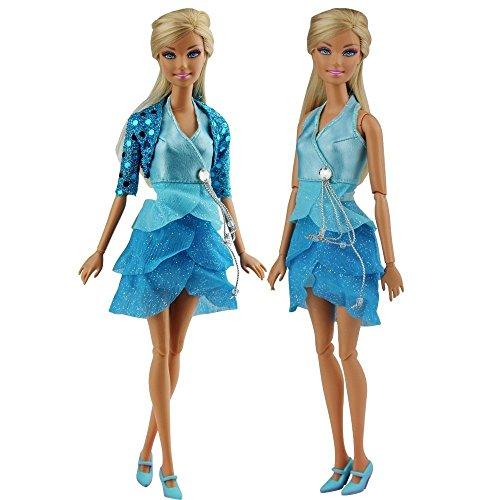 d0148e9bd Miunana 1 Moda Noche de Princesas Ropa lleva Vestido Ropa Traje para Barbie  Muñeca Navidad Regalo