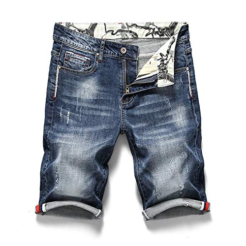 Camouflage Booty Camp (JKULOO Sommer Shorts Herren Stretch Kurze Jeans Mode Lässig Slim Fit Qualität Elastische Denim Shorts Männlichen Marke Kleidung Cargo Sport Basketball für Jungen Retro Blue 6XL)