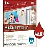 SKULLPAPER Premium A4 DIY Magnetfolie weiß bedruckbar bemalbar für Inkjet Tintenstrahldrucker (10 Blatt)
