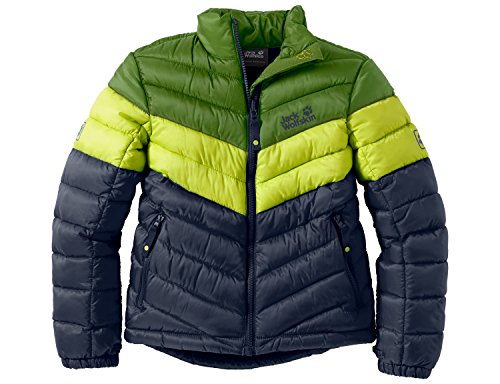 Jack Wolfskin Kinder Jacke Wattiert Icecamp Jacket, Night Blue, 128, 1604151-1010128