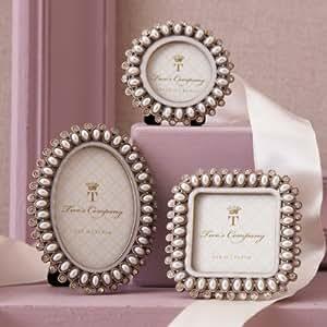 Set Of Three Pearl Amp Jewelled Mini Frame Round Square