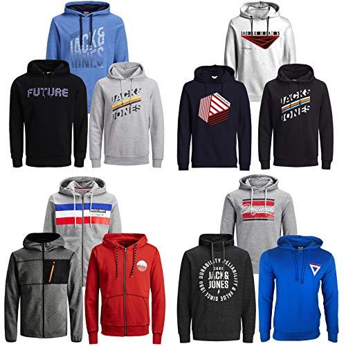JACK & JONES Kapuzenpullover 3er Pack Hoodie Sweat Shirt Herren Baumwollmix S M L XL XXL (L, 3er Paket X 8)