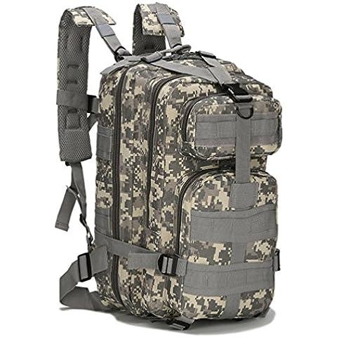 HMILYDYK–3P Militare Zaino Zaini da campeggio trekking, sport e tempo libero, resistente all' acqua, migliore con diversi scomparti, 25L - Oversize Gear Bag