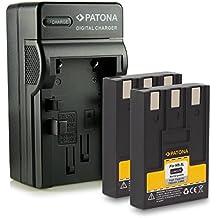 M&L Mobiles®   Novedad - 4in1 Cargador + 2x Batería como NB-3L NB3L con Infochip · 100% compatible con Canon Ixus II   Iis   i   Digital 30   i5 Digital   700   750 - Canon PowerShot SD10   SD20   SD40   SD100   SD110   SD500   SD550