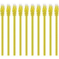 (10-Pezzi) 0.3m Cavo di rete Cat6, CAT.6 Ethernet Gigabit Lan,